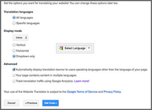 How to add Google Translate in your website3